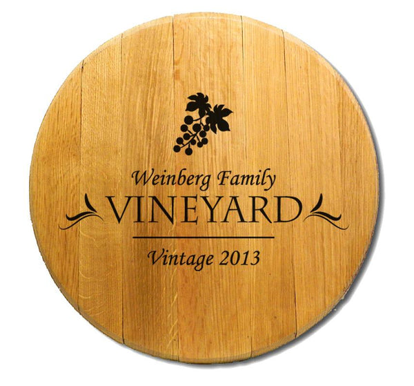 Weinberg Vineyard - Engraved Barrel Head