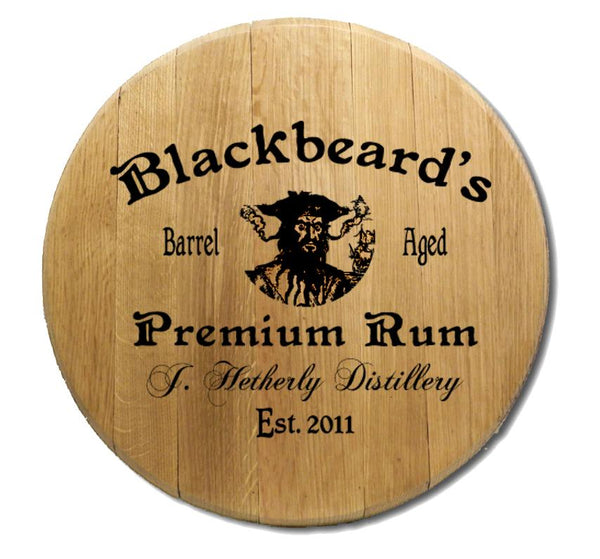 Blackbeard - Engraved Barrel Head