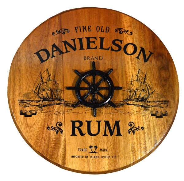 Rum W/Shipwheel - Barrel Head