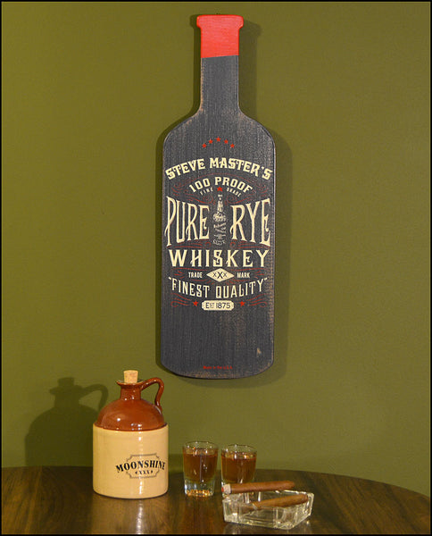 Pure Rye Whiskey - Bottle Shapes Signs