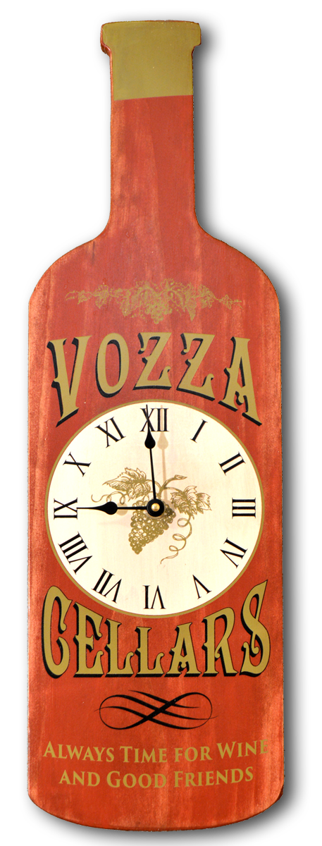 Cellars - Bottle Shaped Clock