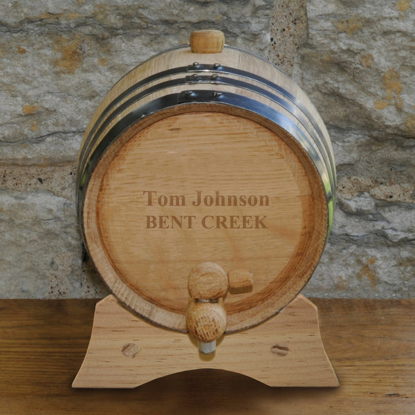 Personalized Mini Whiskey Barrel