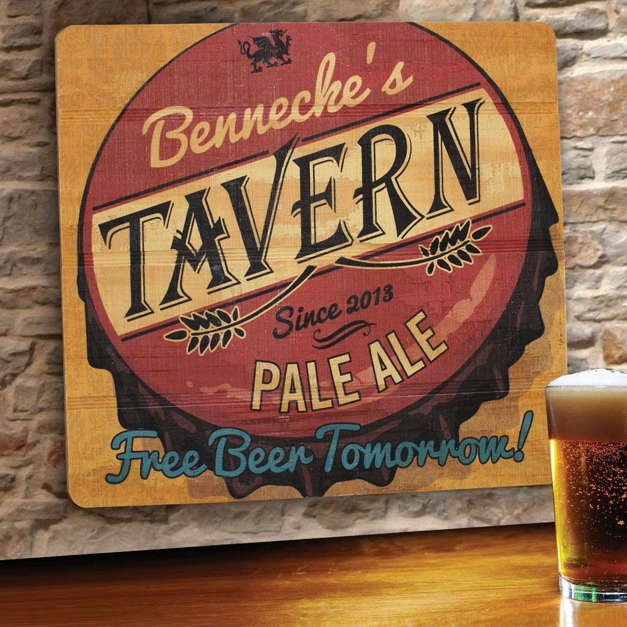 Personalized Wood Art Sign -freebeertomorrow