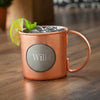 Moscow Mule Copper Mug w/Pewter Medallion