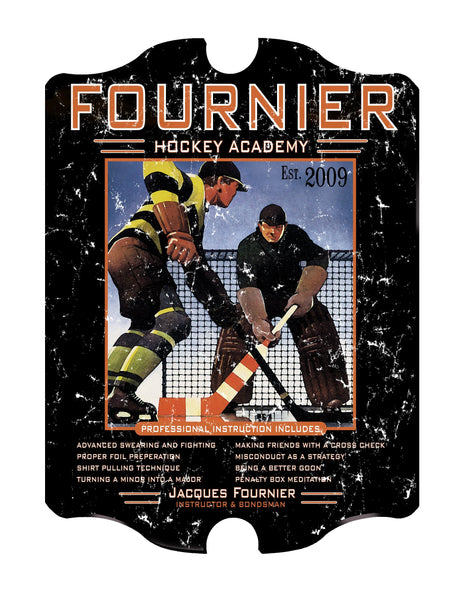 Vintage Personalized Hockey Academy Sign