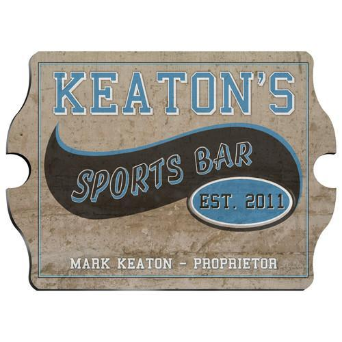 Vintage Personalized Sports Bar Pub Sign