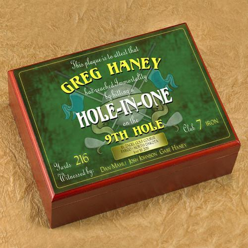 Personalized Hole In One Humidor