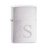 Personalized Brushed Chrome Zippo Lighte