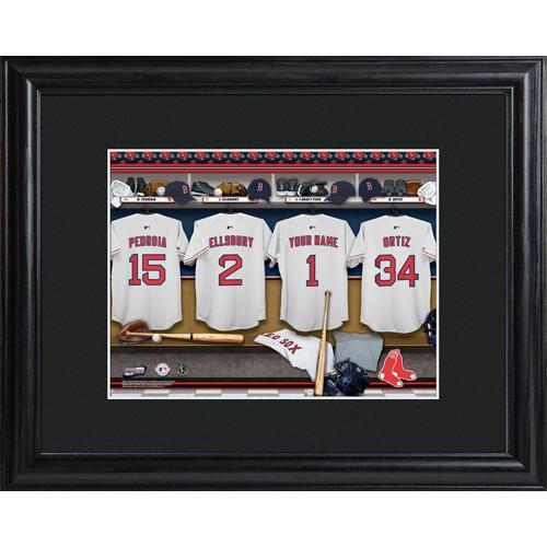 Personalized MLB Clubhouse Print with Matted Frame - Boston Red Sox