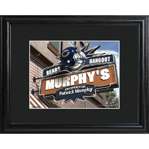 Personalized NFL Pub Sign w/Matted Frame - Bears