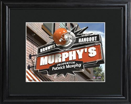 Personalized NFL Pub Sign w/Matted Frame - Browns
