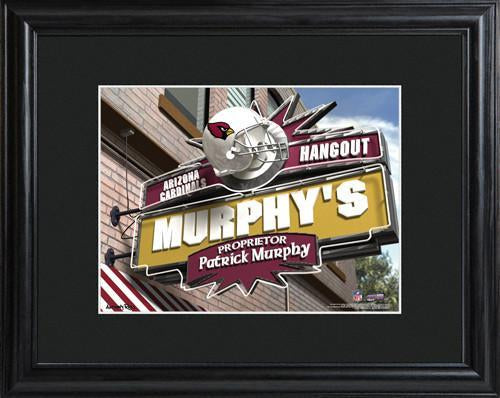 Personalized NFL Pub Sign w/Matted Frame - Cardinals