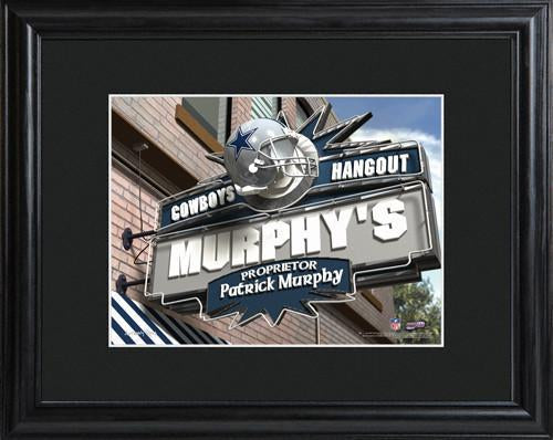 Personalized NFL Pub Sign w/Matted Frame - Cowboys