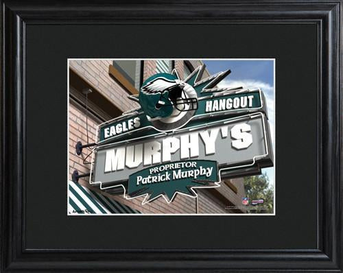 Personalized NFL Pub Sign w/Matted Frame - Eagles