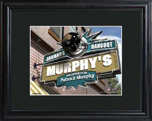 Personalized NFL Pub Sign w/Matted Frame - Jaguars