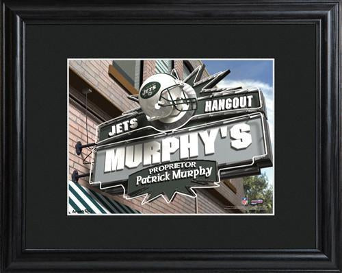 Personalized NFL Pub Sign w/Matted Frame - Jets
