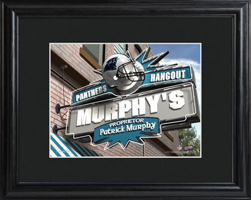 Personalized NFL Pub Sign w/Matted Frame - Panthers