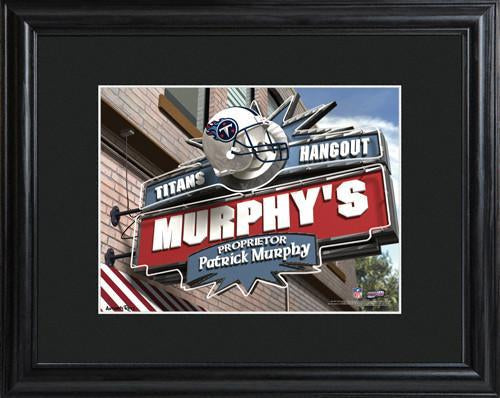 Personalized NFL Pub Sign w/Matted Frame - Titans