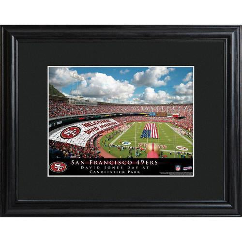 Personalized NFL Stadium Print with Wood Frame -San Francisco 49ers