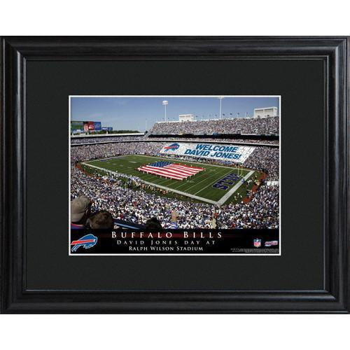 Personalized NFL Stadium Print with Wood Frame - Buffalo Bills