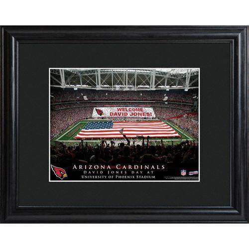 Personalized NFL Stadium Print with Wood Frame - Arizona Cardinals