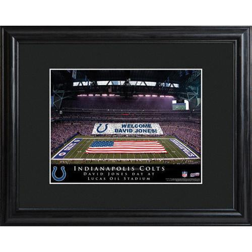 Personalized NFL Stadium Print with Wood Frame -Indianapolis Colts