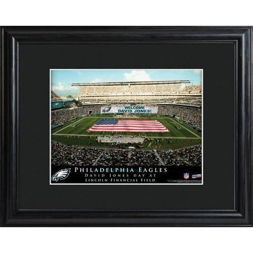 Personalized NFL Stadium Print with Wood Frame -Philadelphia Eagles