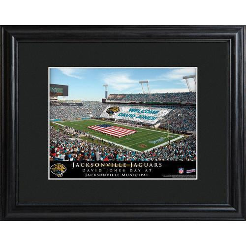 Personalized NFL Stadium Print with Wood Frame -Jacksonville Jaguars