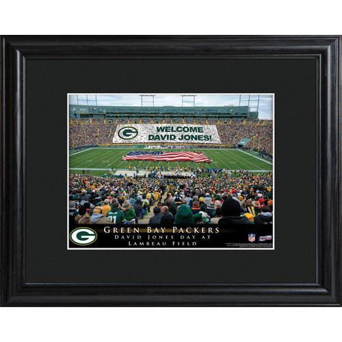 Personalized NFL Stadium Print with Wood Frame -Green Bay Packers