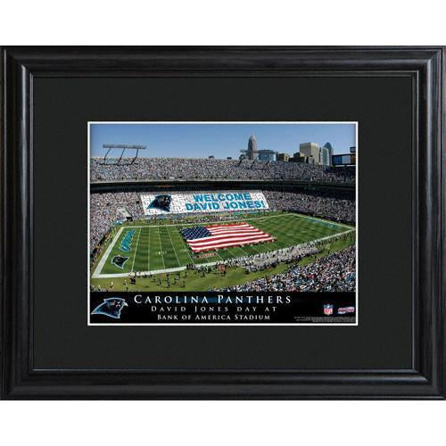 Personalized NFL Stadium Print with Wood Frame - Carolina Panthers