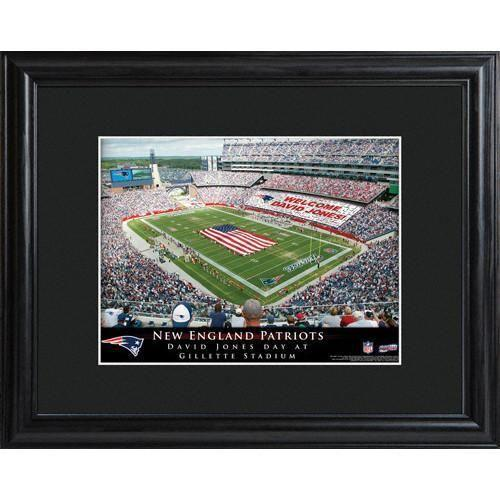 Personalized NFL Stadium Print with Wood Frame -New England Patriots