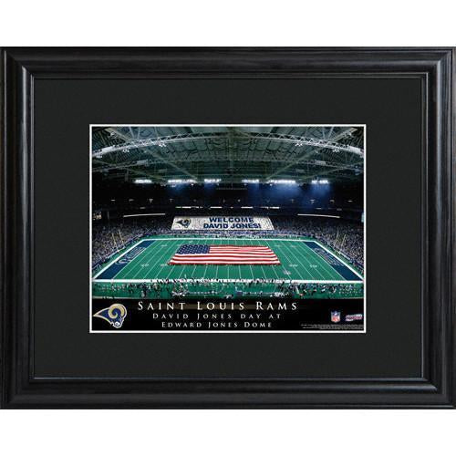 Personalized NFL Stadium Print with Wood Frame -St. Louis Rams