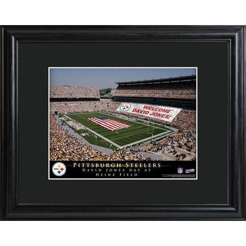 Personalized NFL Stadium Print with Wood Frame -Pittsburgh Steelers