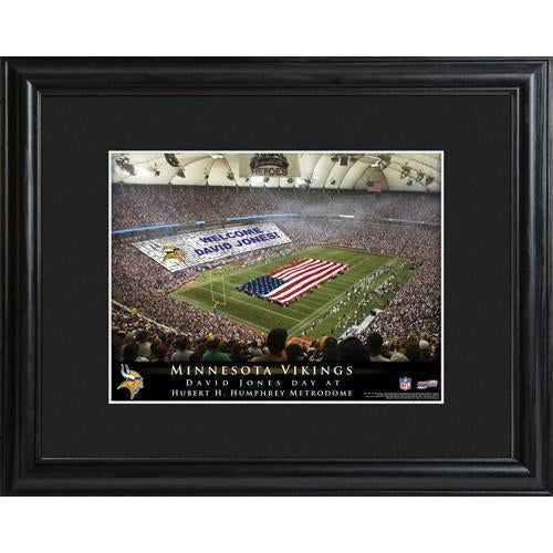 Personalized NFL Stadium Print with Wood Frame -Minnesota Vikings