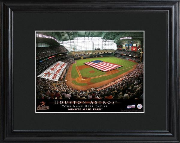 Personalized MLB Stadium Sign w/Matted Frame - Astros