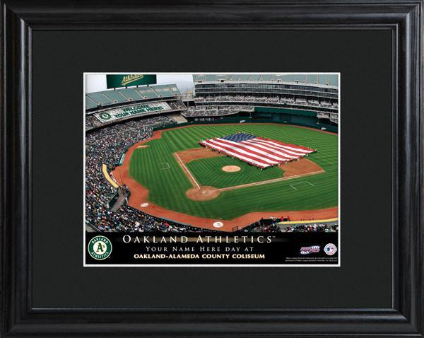 Personalized MLB Stadium Sign w/Matted Frame - Athletics
