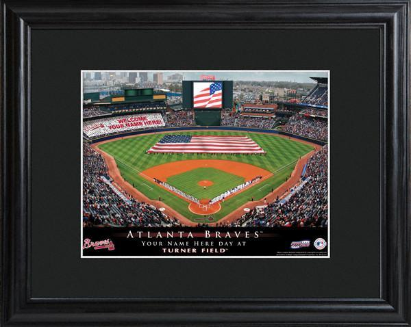 Personalized MLB Stadium Sign w/Matted Frame - Braves