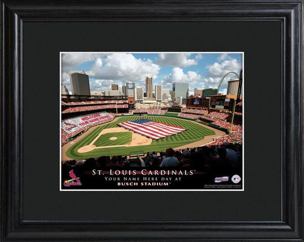 Personalized MLB Stadium Sign w/Matted Frame - Cardinals