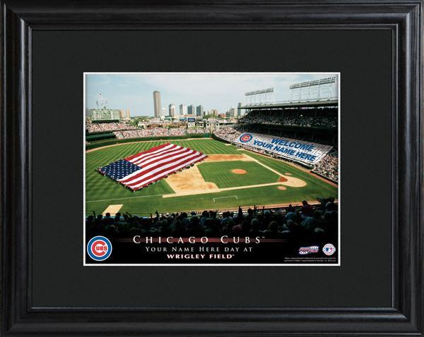 Personalized MLB Stadium Sign w/Matted Frame - Cubs