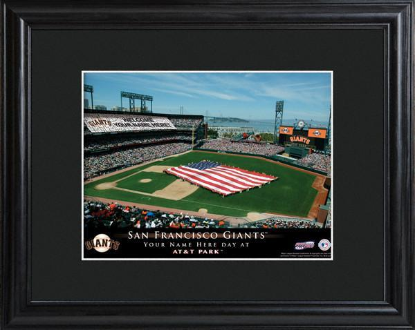 Personalized MLB Stadium Sign w/Matted Frame - Giants