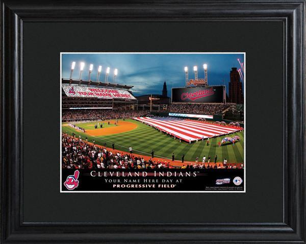 Personalized MLB Stadium Sign w/Matted Frame - Indians