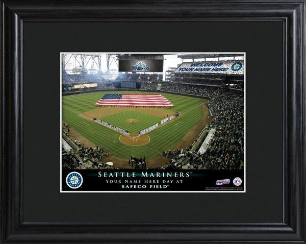 Personalized MLB Stadium Sign w/Matted Frame - Mariners