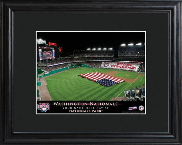Personalized MLB Stadium Sign w/Matted Frame - Nationals