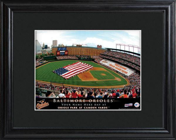 Personalized MLB Stadium Sign w/Matted Frame - Orioles