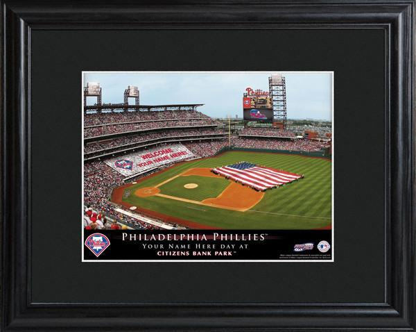 Personalized MLB Stadium Sign w/Matted Frame - Phillies
