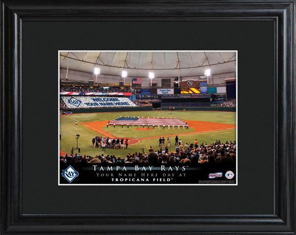 Personalized MLB Stadium Sign w/Matted Frame - Rays