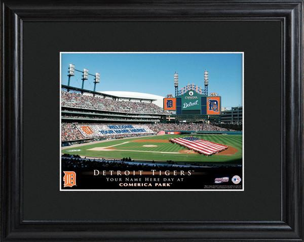 Personalized MLB Stadium Sign w/Matted Frame - Tigers