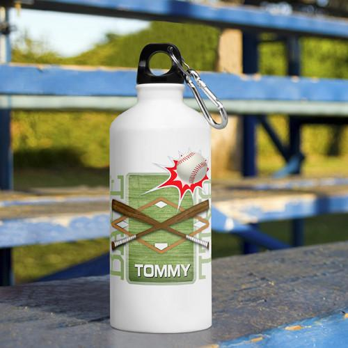 Personalized Kid's Sports Water Bottles - Baseball