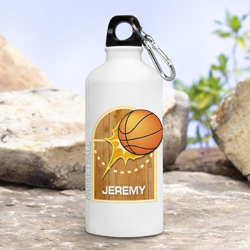 Personalized Kid's Sports Water Bottles - Basketball