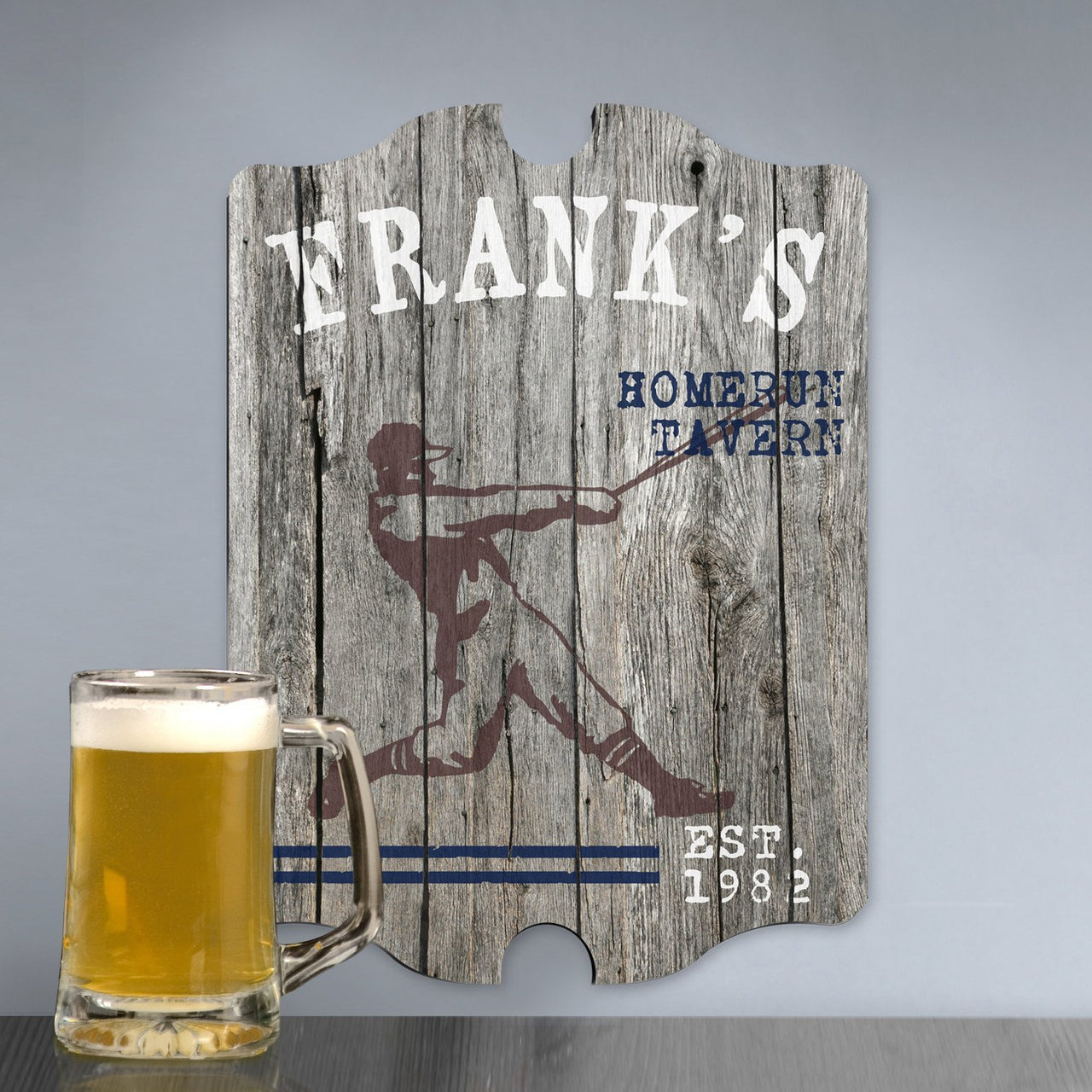 Personalized Vintage Homerun Man Cave Pub Sign